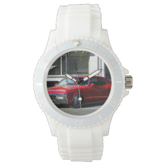 Classic Red Car Wrist Watches