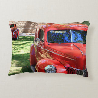 Classic Red cars Accent Pillow