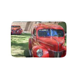 Classic Red cars Bathroom Mat