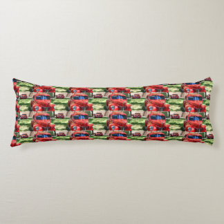 Classic Red cars Body Pillow