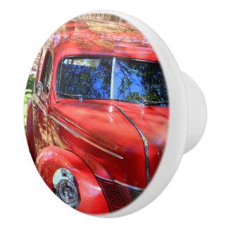 Classic Red cars Ceramic Knob