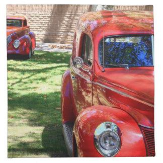 Classic Red cars Cloth Napkin