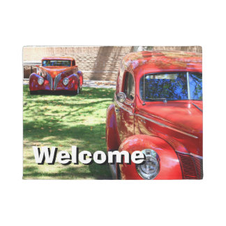 Classic Red cars Doormat