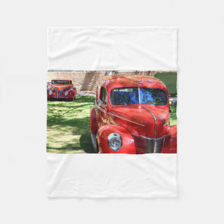 Classic Red cars Fleece Blanket