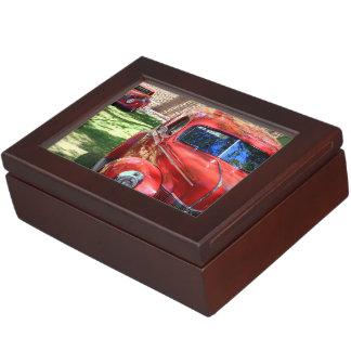 Classic Red cars Keepsake Box