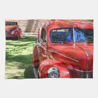 Classic Red cars Kitchen Towel