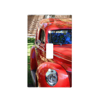 Classic Red cars Light Switch Cover