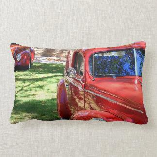 Classic Red cars Lumbar Pillow