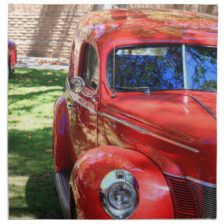 Classic Red cars Napkin