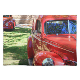 Classic Red cars Placemat