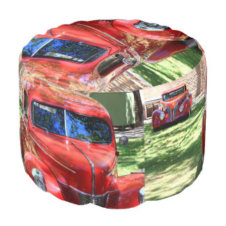 Classic Red cars Pouf