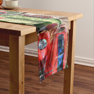 Classic Red cars Short Table Runner