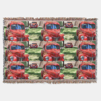 Classic Red cars Throw Blanket