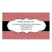 Classic Red Chevron Business Card