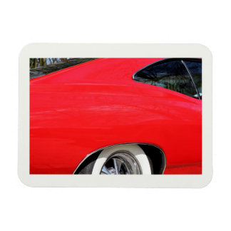 Classic Red Chevy Impala detail 1965 photo Magnet