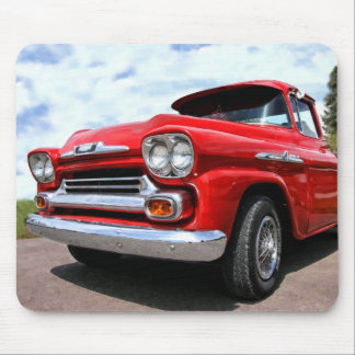 Classic Red Chevy Truck Mouse Pad