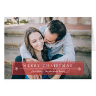 Classic Red Christmas Photo Greeting Card