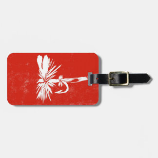 """Classic """"Red Coachman"""" Dry Fly Luggage Tag"""