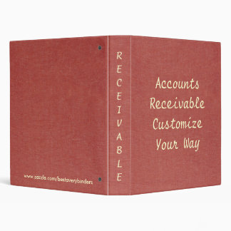 Classic Red Denim PRINT Accounts Notebook Binder