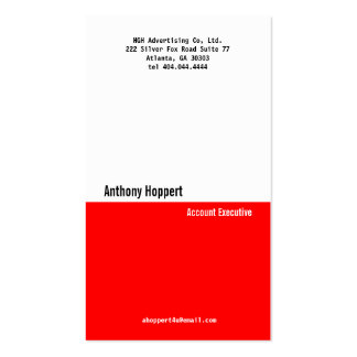Classic Red Divider Business Card