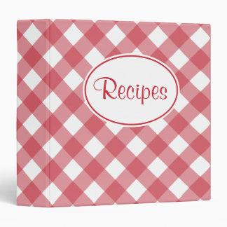 Classic Red Gingham Recipe Binder