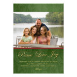 Classic red green christmas holiday photo card custom invitation