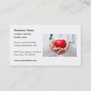 Clic Red Heart Health Coach Business Card