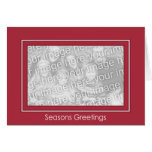 Classic Red Holiday Template - Customized Greeting Card