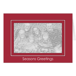 Classic Red Holiday Template - Customized Cards