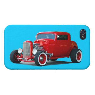 Classic Red Hot Rod Car iPhone 4/4S Case
