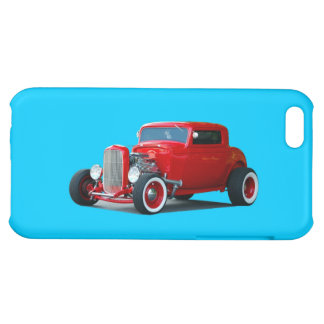 Classic Red Hot Rod Car Cover For iPhone 5C
