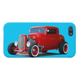 Classic Red Hot Rod Car iPhone SE/5/5s Cover
