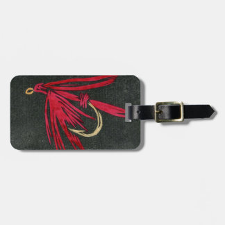 """Classic """"Red Ibis"""" Wet Fly Luggage Tag"""