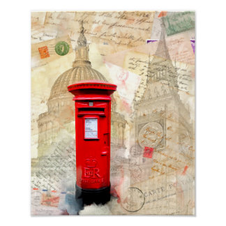 Classic Red London Postbox - 11x14 Archival Poster