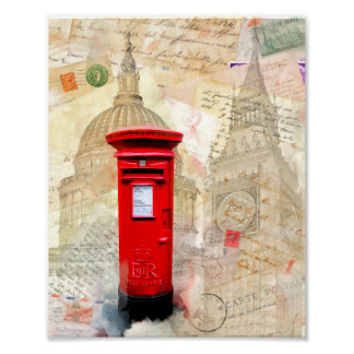 Classic Red London Postbox - 8x10 Archival Poster