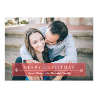 Classic Red Merry Christmas Holiday Card
