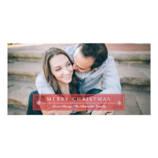 Classic Red Merry Christmas Photo Card