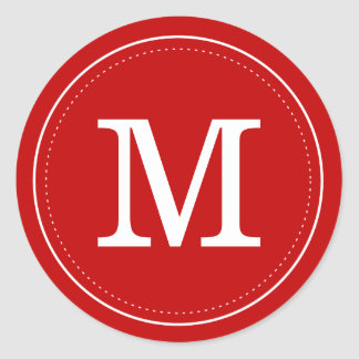Classic Red Monogram Envelope Seal