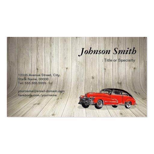 Classic Red Muscle Car - Unique Automotive Business Cards (back side)