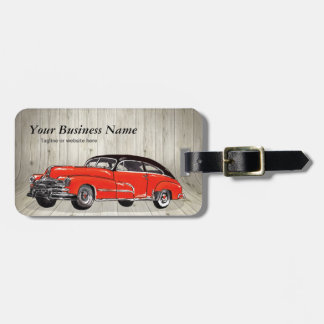 Classic Red Muscle Car - Unique Automotive Tag For Luggage