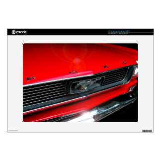 Classic Red Mustang Laptop Decal