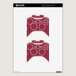 Classic Red Pattern By Nate Xbox 360 Controller Decal