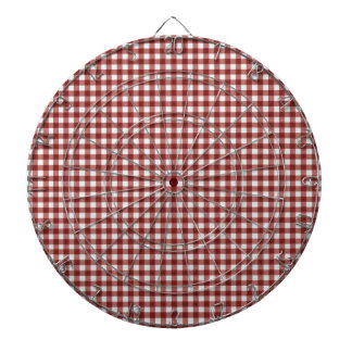 Classic Red Picnic Gingham Dartboard With Darts