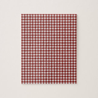Classic Red Picnic Gingham Jigsaw Puzzle