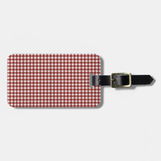Classic Red Picnic Gingham Luggage Tag