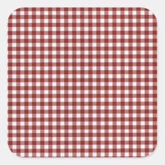 Classic Red Picnic Gingham Square Sticker
