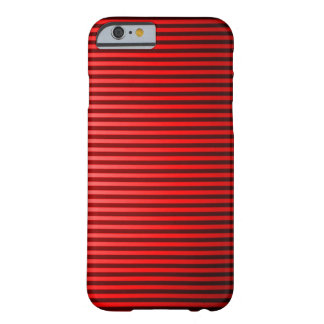 Classic Red Pinstripe Barely There iPhone 6 Case