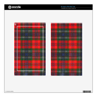 Classic Red Plaid Skin For Kindle Fire