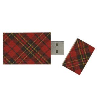 Classic Red Plaid USB Flash Drive