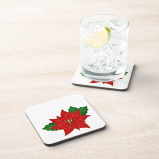 Classic Red Poinsettia Beverage Coaster